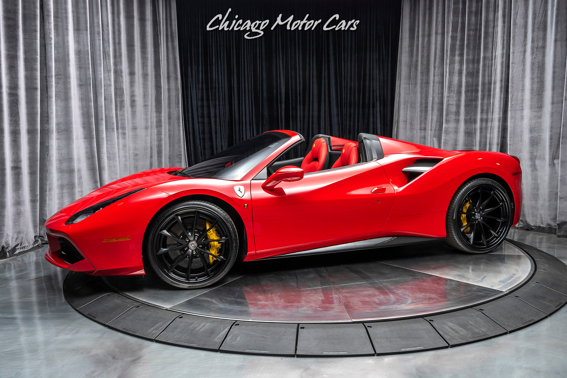 2018 Ferrari 488 Spider Convertible 21 22 Hre Performance Wheels Carbon Fiber Sport Exhaust Chicago Motor Cars Inc Official Corporate Website For Chicago Motor Cars
